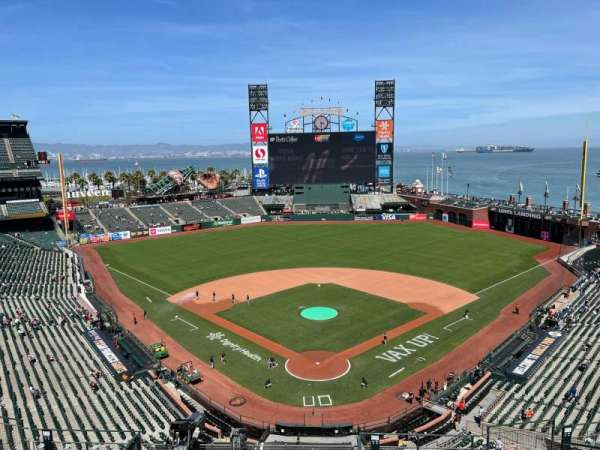 Oracle Park, section: VR315, row: 1, seat: 7