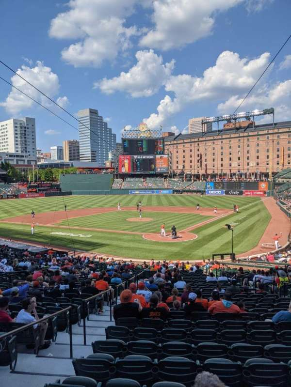 oriole park at camden yards, section: 39, row: 1, seat: 3