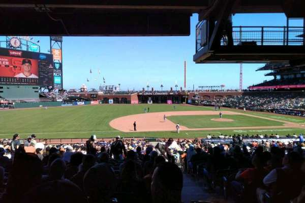 Oracle Park, section: 125, row: 36, seat: 1