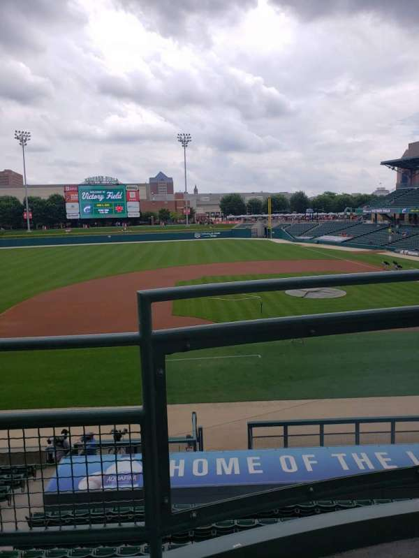 Victory Field, section: 205, row: B, seat: 1
