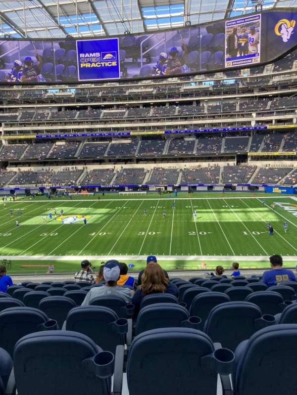 SoFi Stadium, section: C221, row: 10, seat: 12