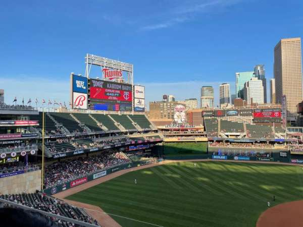 Target Field, section: 222, row: 2, seat: 5-9