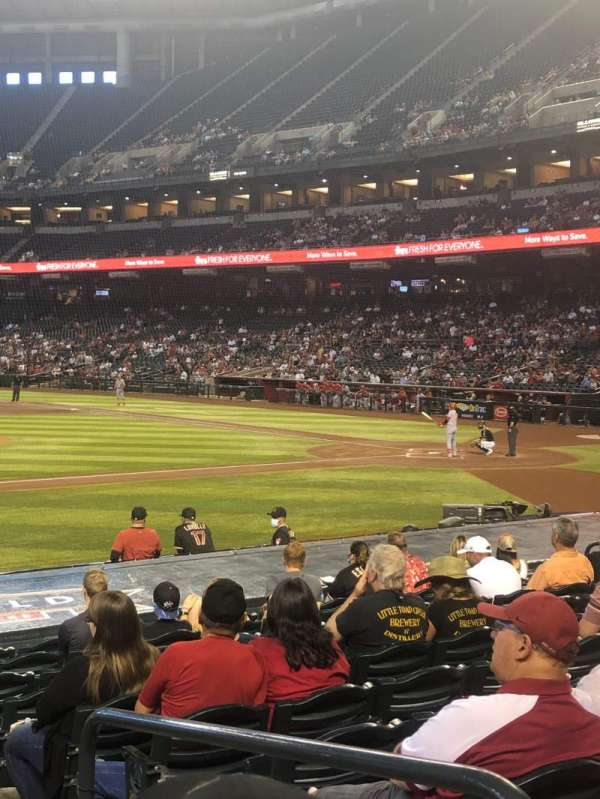 Chase Field, section: P, row: 16, seat: 2