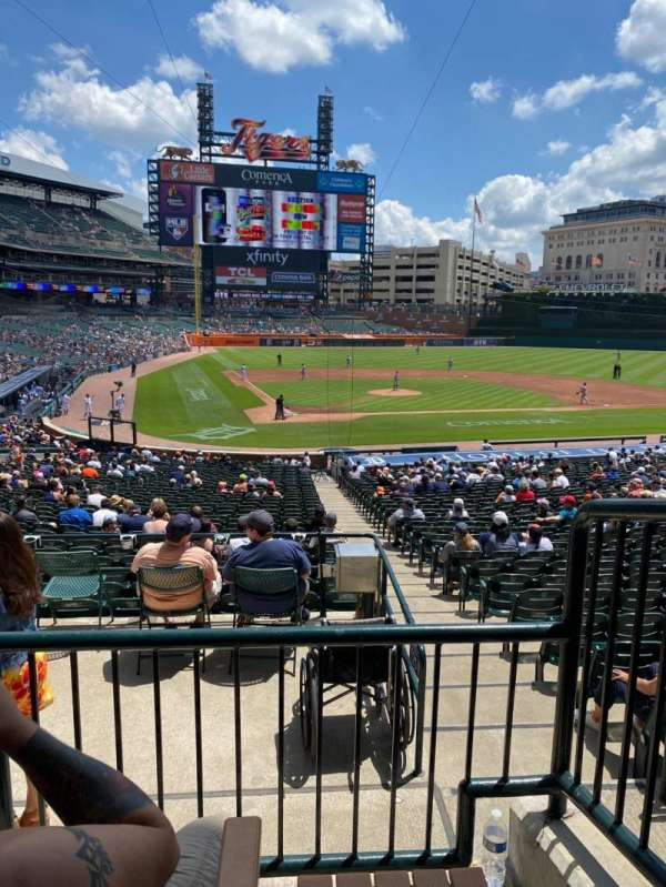 Comerica Park, section: 125A, row: B, seat: 1