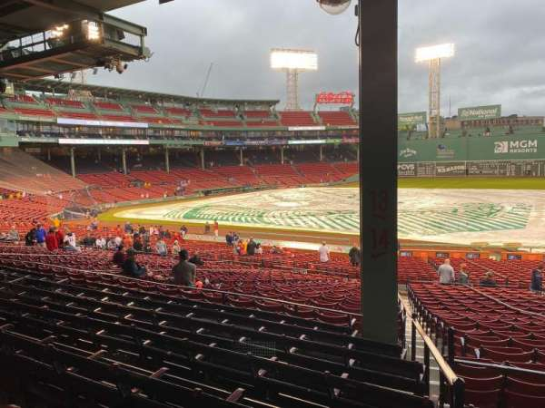 Fenway Park, section: Grandstand 14, row: 6, seat: 1