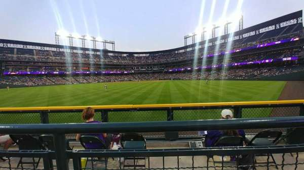 Coors Field, section: 159, row: 2, seat: 12