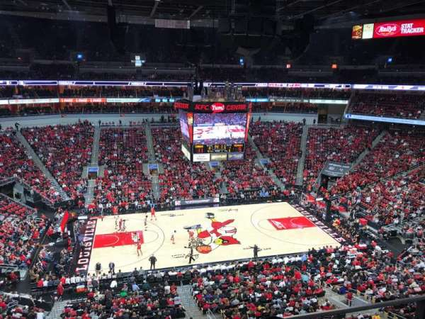 KFC Yum! Center, section: 324, row: B, seat: 4