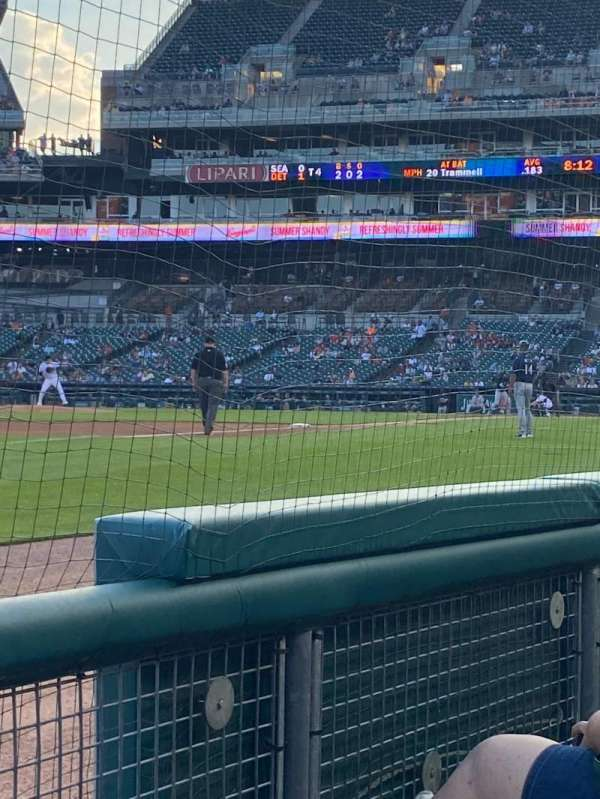 Comerica Park, section: 138, row: 2, seat: 1