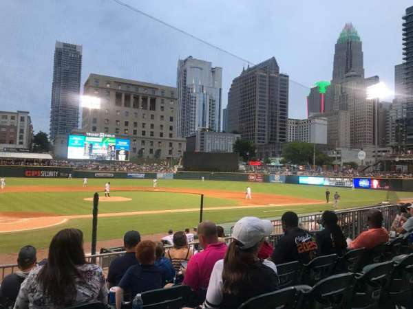 Truist Field, section: 109, row: P, seat: 16