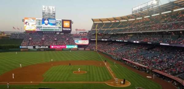 Angel Stadium, section: 320, row: H, seat: 6
