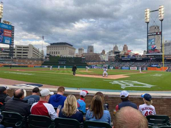 Comerica Park, section: 129, row: 5, seat: 3