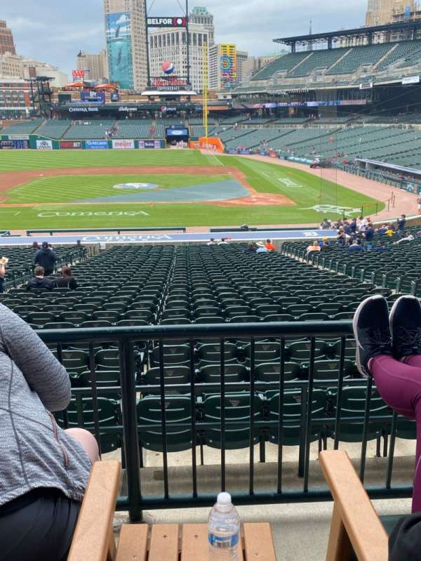 Comerica Park, section: 132A, row: B, seat: 2