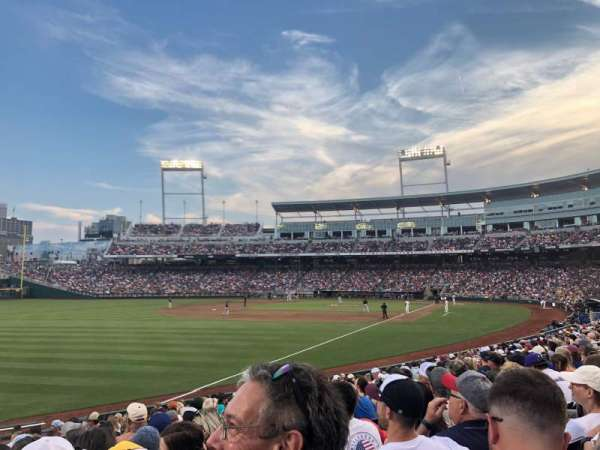 TD Ameritrade Park, section: 122, row: 17, seat: 23