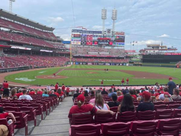 Great American Ball Park, section: 128, row: Z, seat: 14