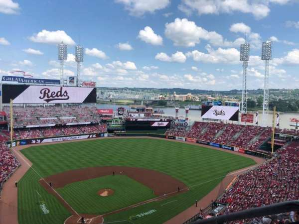 Great American Ball Park, section: 525, row: L, seat: 1