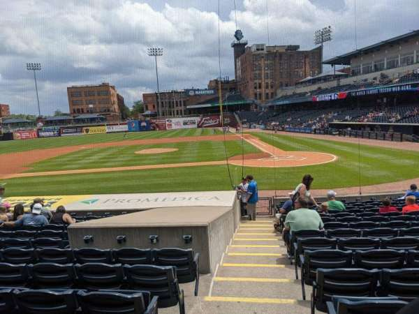 Fifth Third Field, section: 108, row: R, seat: 18