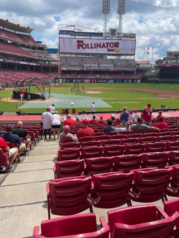 Great American Ball Park, section: 128, row: S, seat: 12