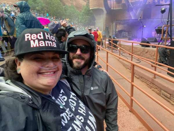 Red Rocks Amphitheatre, section: Ada, row: 1, seat: 12