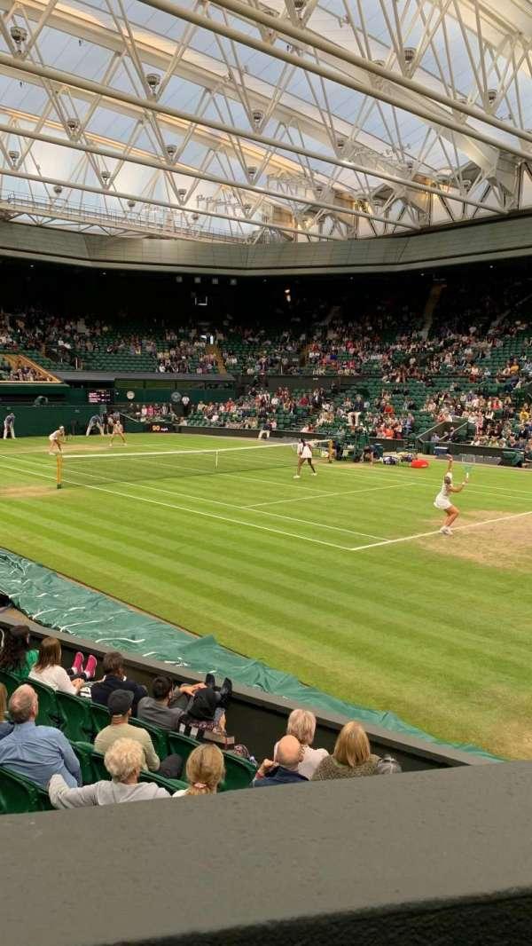 Wimbledon, Centre Court, section: 110, row: A, seat: 57