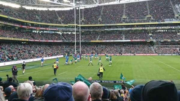 Aviva Stadium, section: 107, row: U, seat: 10