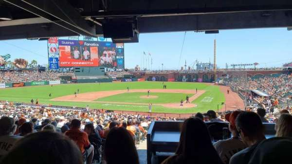 Oracle Park, section: 118, row: 39, seat: 7