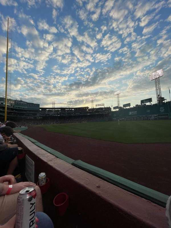 Fenway Park, section: Right Field Box 3, row: F, seat: 13