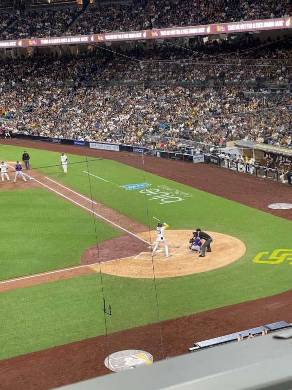 PETCO Park, section: 208, row: 1, seat: 2