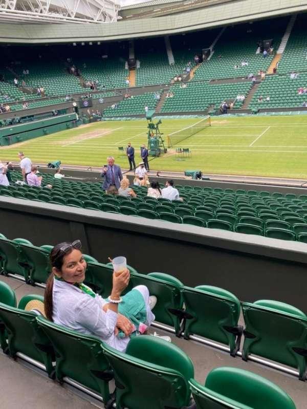 Wimbledon, Centre Court, section: 203, row: B, seat: 55