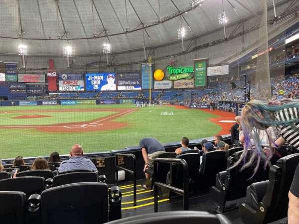Tropicana Field, section: 105, row: K, seat: 6
