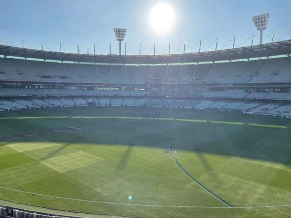 Melbourne Cricket Ground, section: P12, row: A, seat: 3