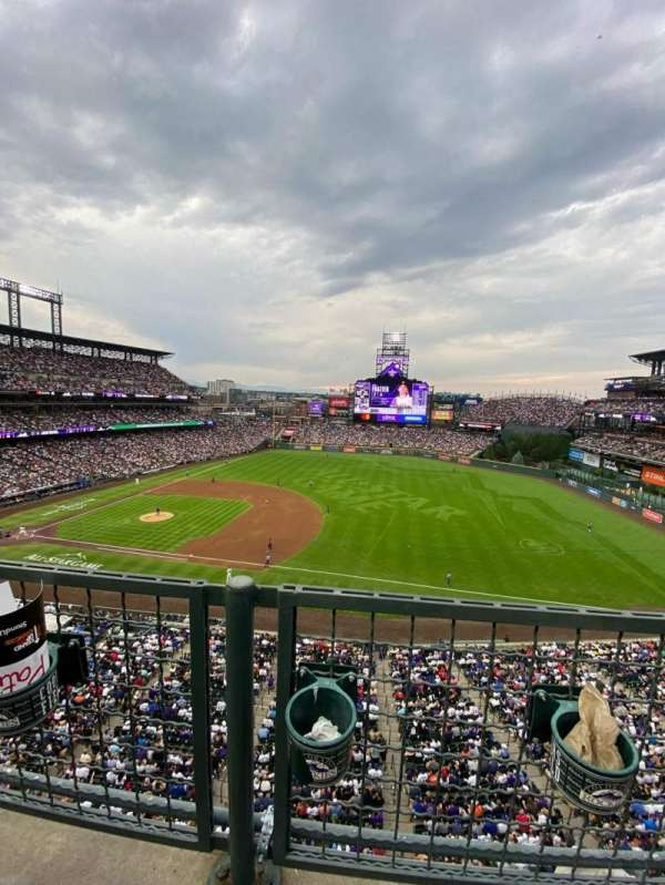Coors Field, section: L319, row: 1, seat: 3