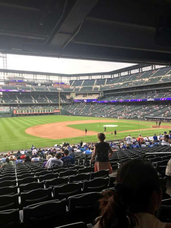 Coors Field, section: 142, row: 37, seat: 5