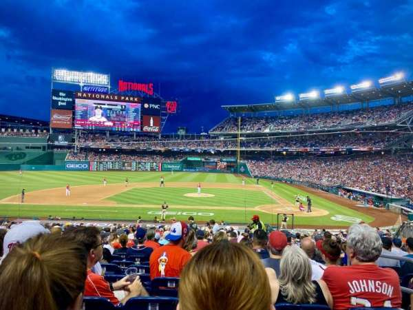 Nationals Park, section: 117, row: HH, seat: 3