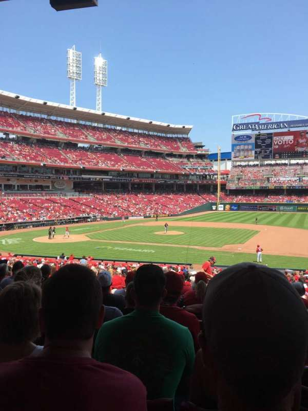 Great American Ball Park, section: 131, row: KK, seat: 16