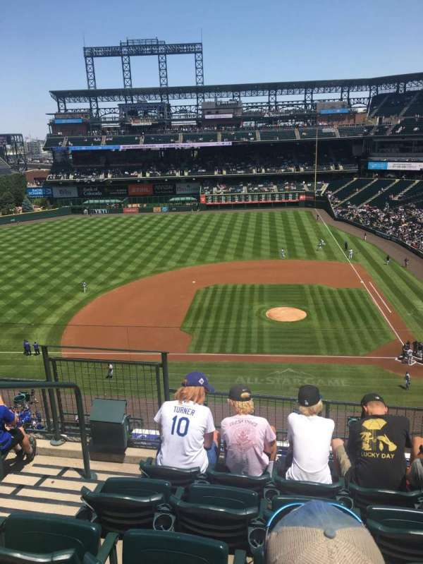 Coors Field, section: L336, row: 5, seat: 20