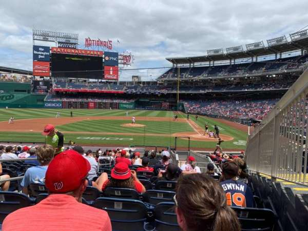 Nationals Park, section: 118, row: BB, seat: 4
