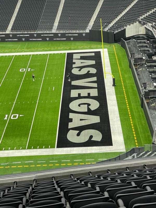 Allegiant Stadium, section: 308, row: 12, seat: 11