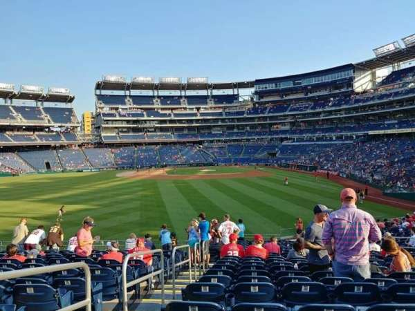Nationals Park, section: 103, row: BB, seat: 14