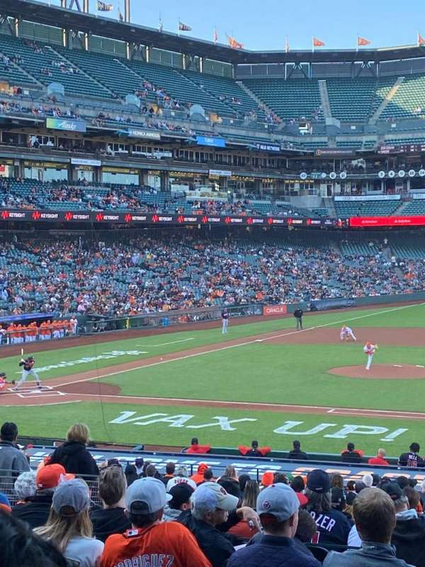 Oracle Park, section: 108, row: 30, seat: 1