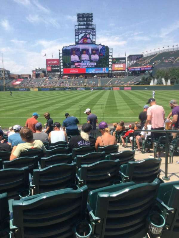 Coors Field, section: 117, row: 15, seat: 3