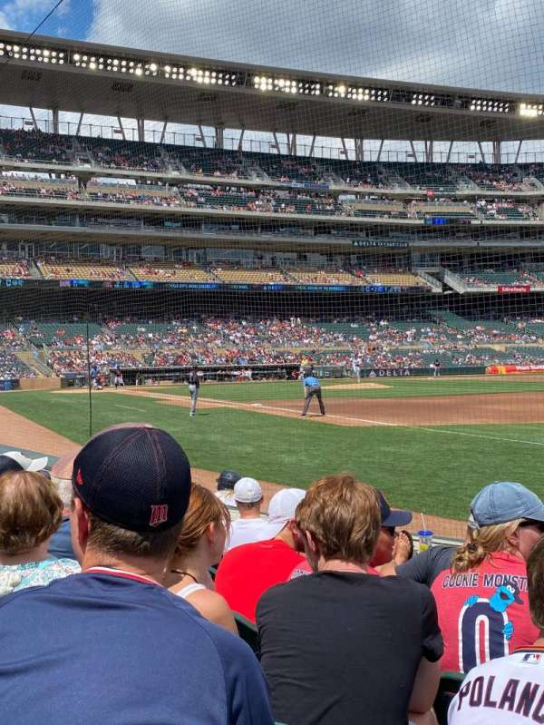Target Field, section: 104, row: 6, seat: 7