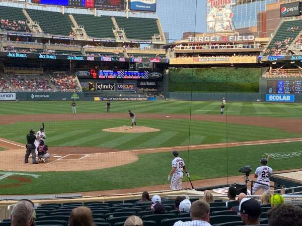 Target Field, section: 112, row: 1, seat: 3