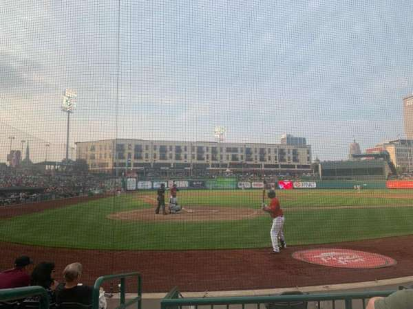 Parkview Field, section: 106, row: C, seat: 9