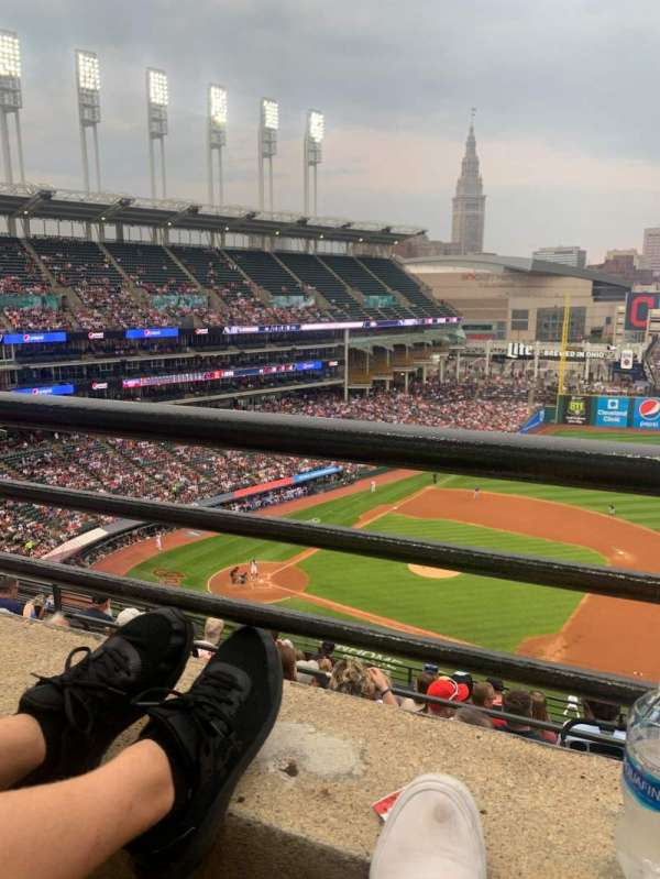 Progressive Field, section: 541, row: E, seat: 5