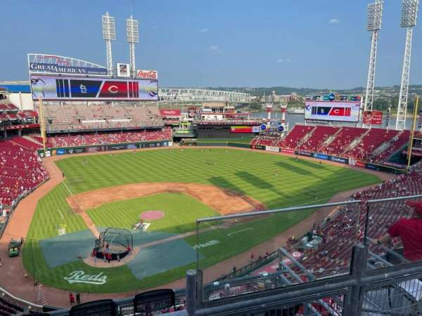 Great American Ball Park, section: 526, row: B, seat: 5
