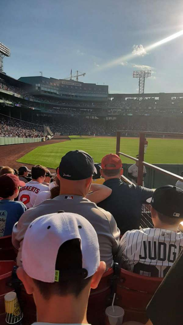 Fenway Park, section: Right Field Box 87, row: DD, seat: 4