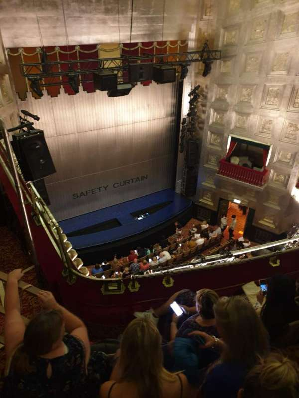 Savoy Theatre, section: Upper circle, row: D, seat: 25/24