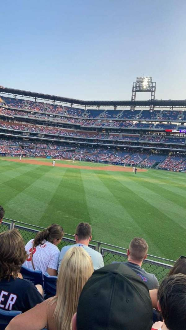 Citizens Bank Park, section: 101, row: 4, seat: 7