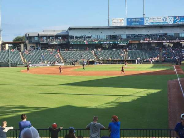Dell Diamond, section: Rockers, row: 1, seat: 26