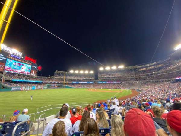 Nationals Park, section: 108, row: DD, seat: 24